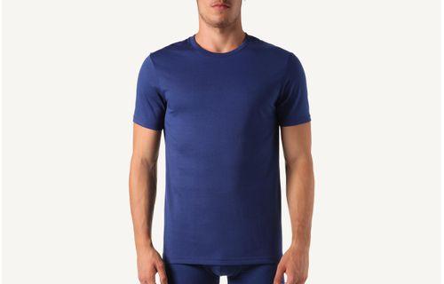 938fea4fd2 Camiseta De Manga Curta Gola De Algodao Supima® - Azul