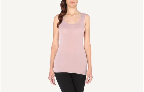 81501e2321 Blusa De Alças Largas Em Modal Cashmere Ultralight - Rosa