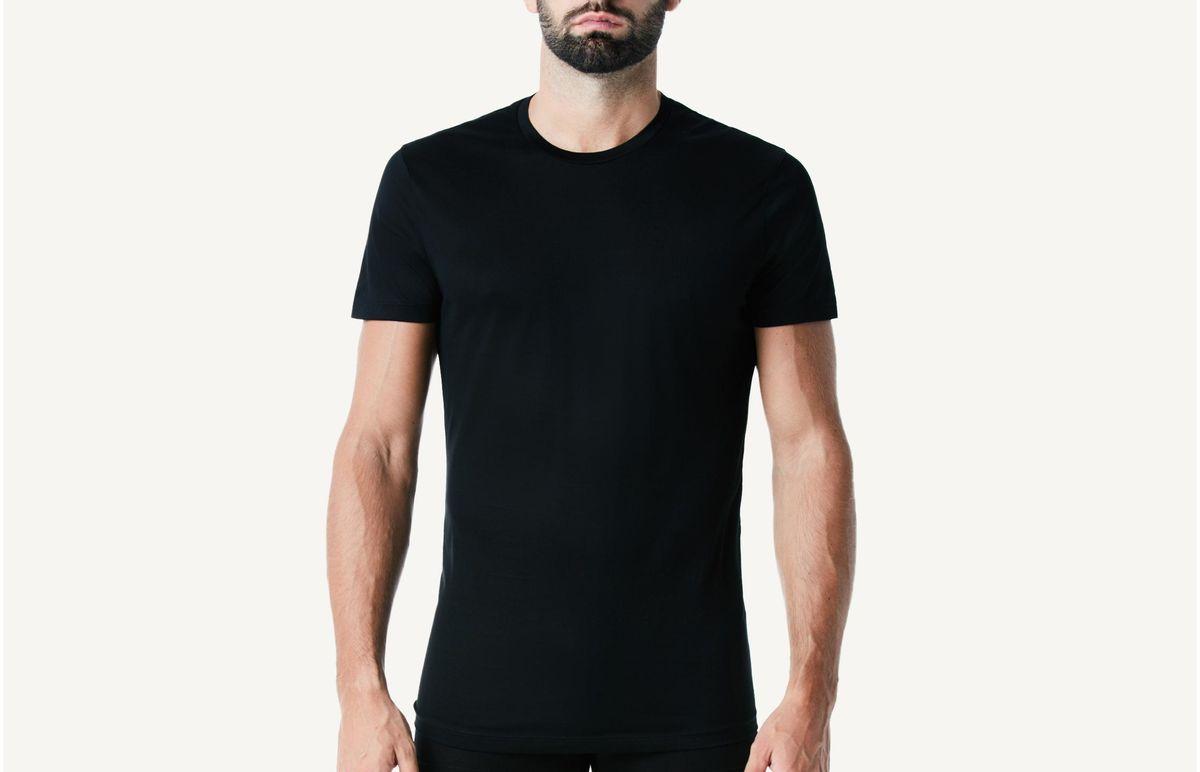 Camiseta Manga Curta Fio De Escocia - Preto M