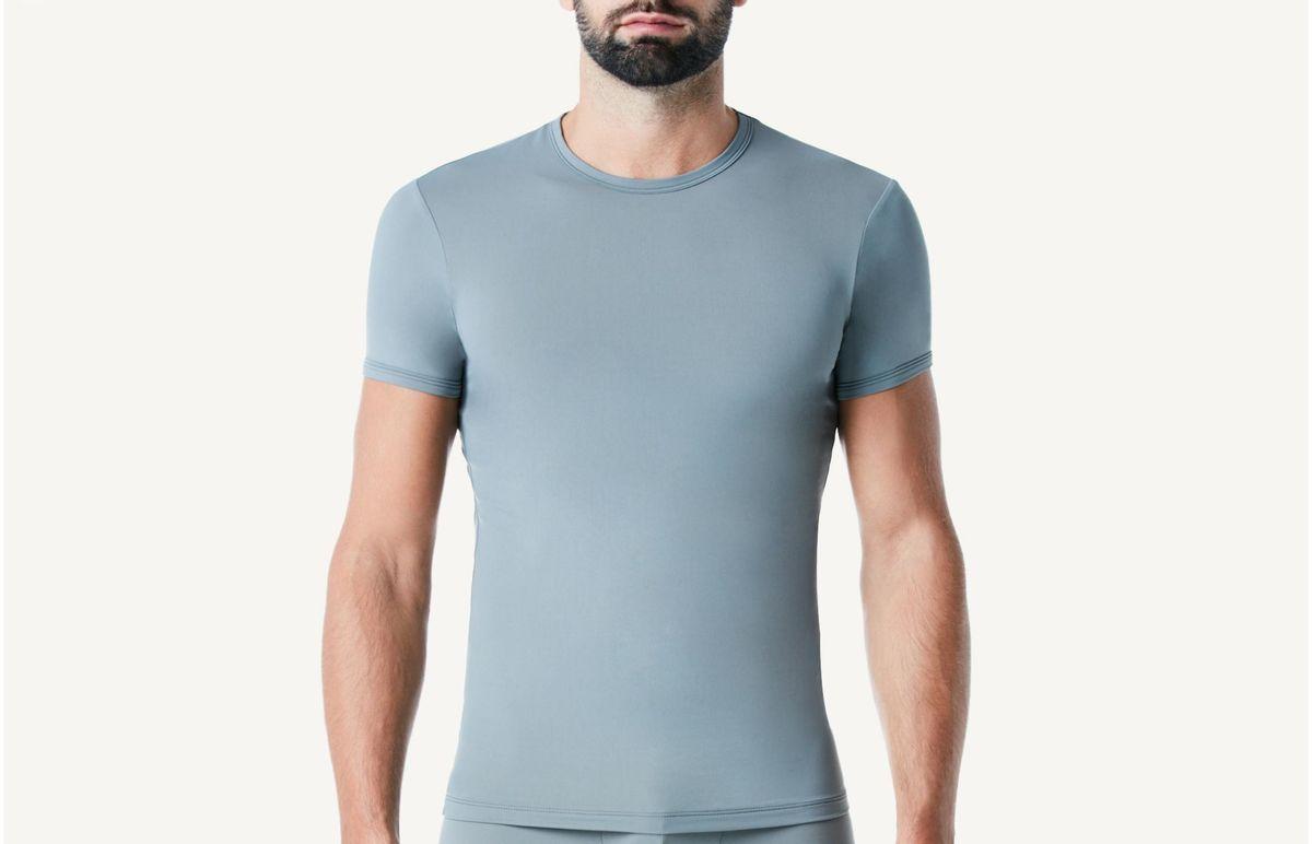 89cb13b5bd Camiseta Manga Curta Gola Em Microfibra - Cinza M