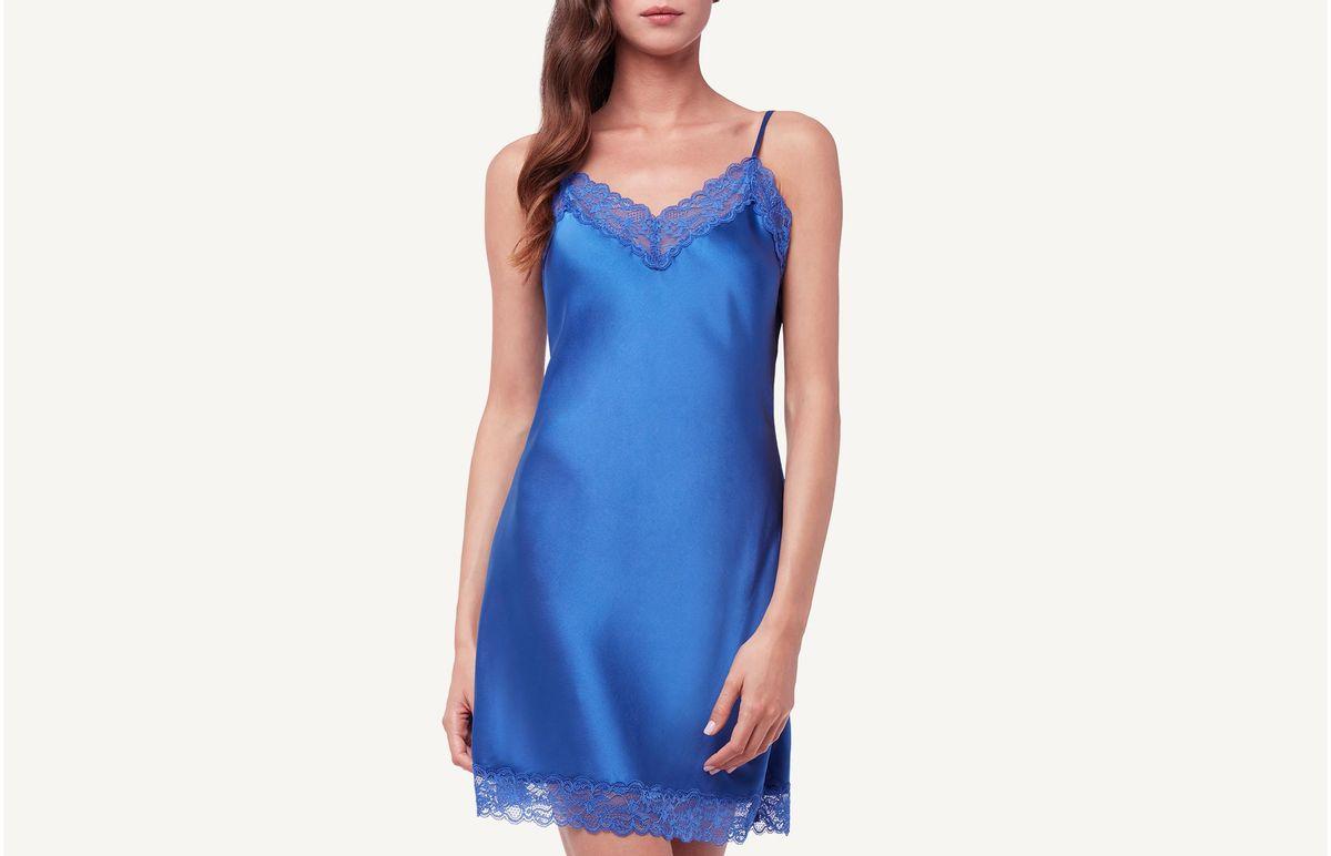 Camisola De Seda - Azul P