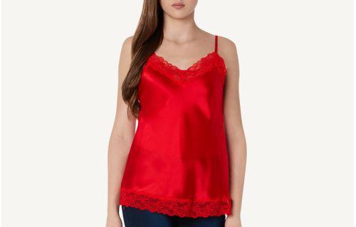 c6c1d060e Blusa Renda e Seda - Vermelho
