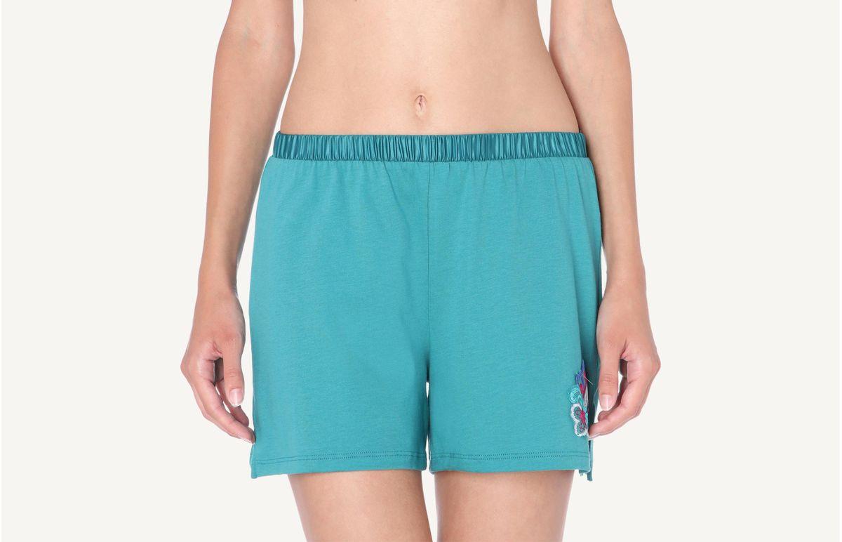 Shorts De Algodão Supima Colorful Dream - Verde P